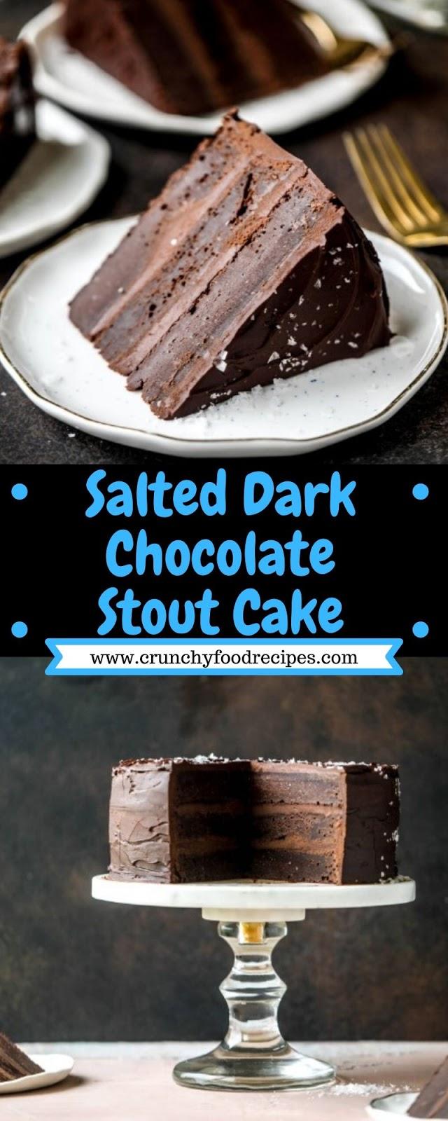 Salted Dark Chocolate Stout Cake