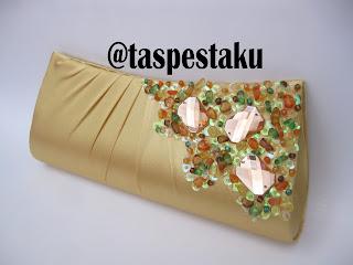 Dompet Tas Pesta Gold Cantik dan Mewah Unik