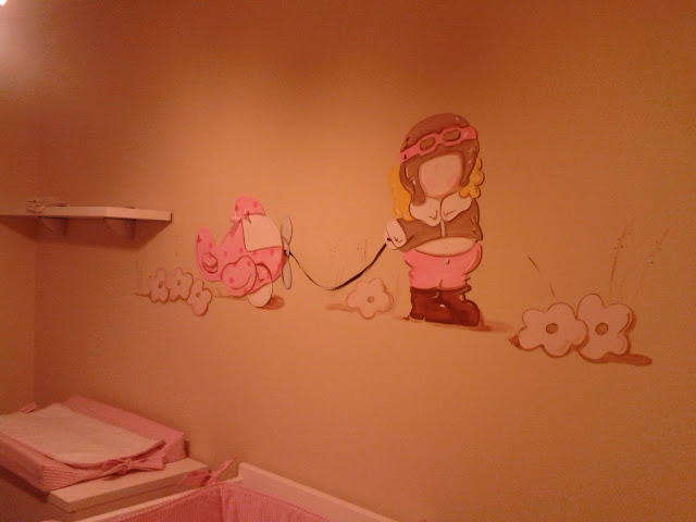 peinture murale chambre b b. Black Bedroom Furniture Sets. Home Design Ideas
