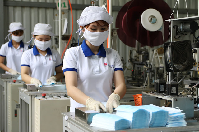 Cung cấp máy giặt công nghiệp cho công ty sản xuất thiết bị y tế ở Long An