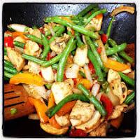 kurczak z warzywami stir fry