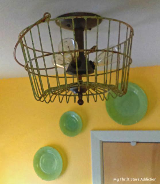 DIY farmhouse light fixture upgrade