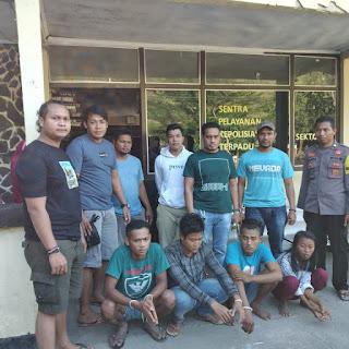 Polsek Hu'u Tangkap Tiga Pemuda Diduga Miliki Narkoba Jenis Sabu