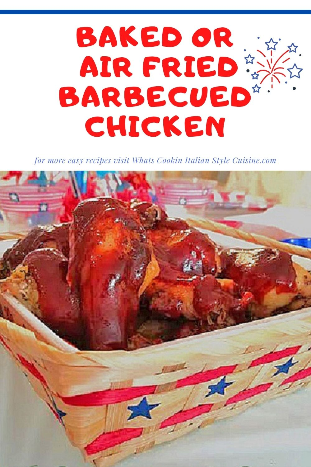 pin for later on how to make air fried barbecued chicken