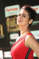 Meenakshi Dixit in Red One Shoulder Red Zipped up gown at IIFA Utsavam Award 33.JPG