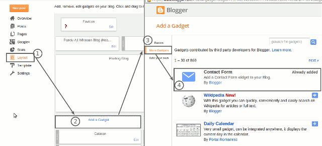 Menambahkan Widget Contact Form