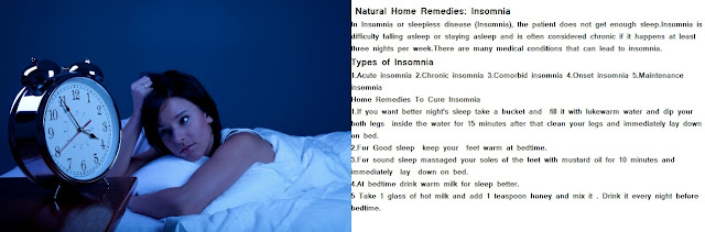 Sleepless Disease-Home Remedy