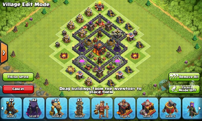 pertahanan terbaik untuk base war th 6 di clash of clans 1