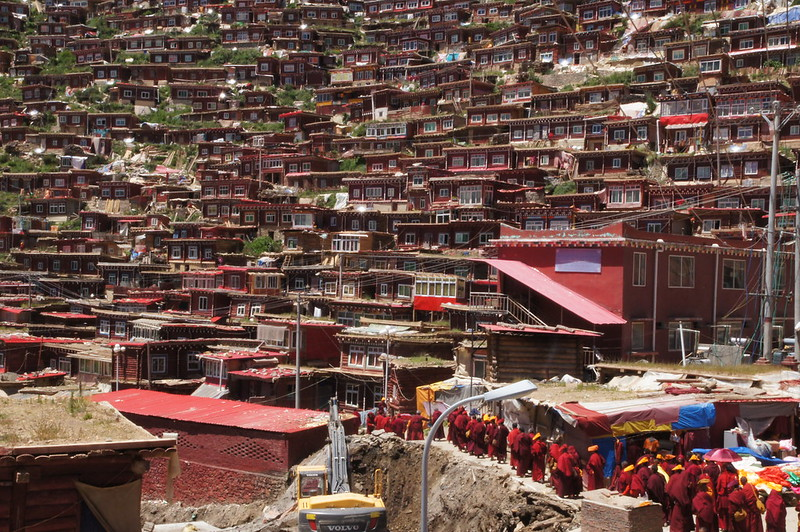 Larung Gar Buddhist Academy, also known as Serthar Buddhist Academy and Serta Larung Five Science Buddhist Academy is the home of 40,000 monks and nuns