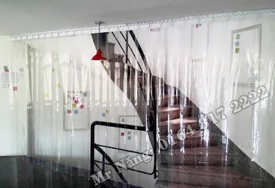 Rèm ngăn lạnh khu vực cầu thang