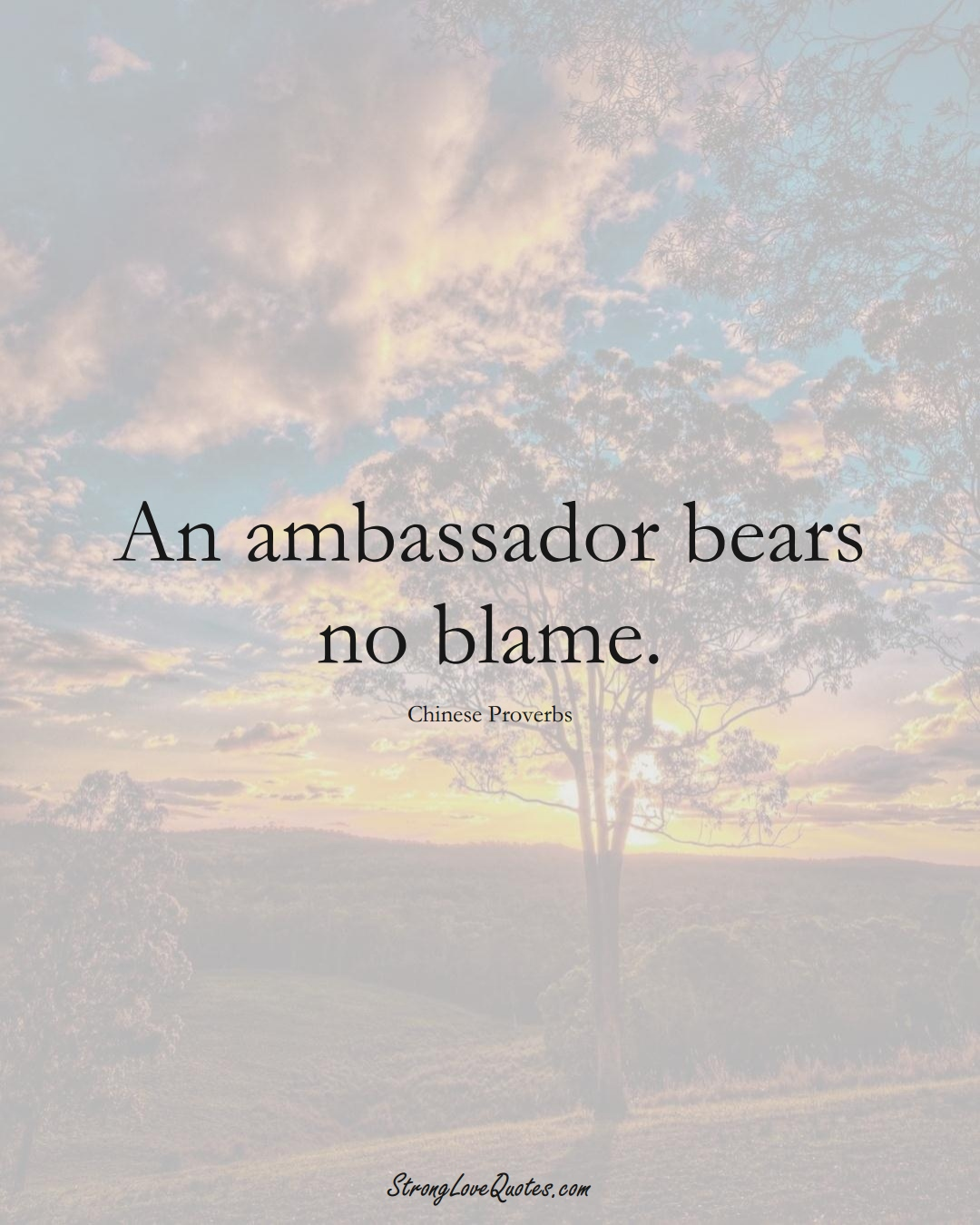 An ambassador bears no blame. (Chinese Sayings);  #AsianSayings