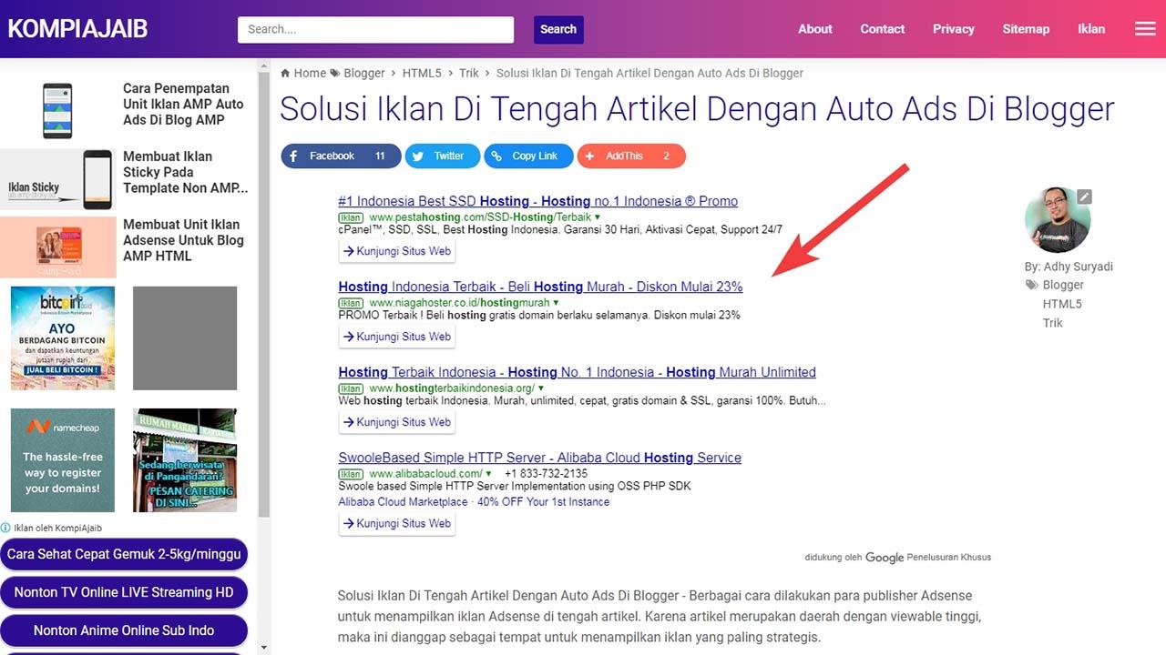 Custom Search Engine Adsense Sesuai Label Post Atau Keyword Tertentu Dalam Postingan Blog