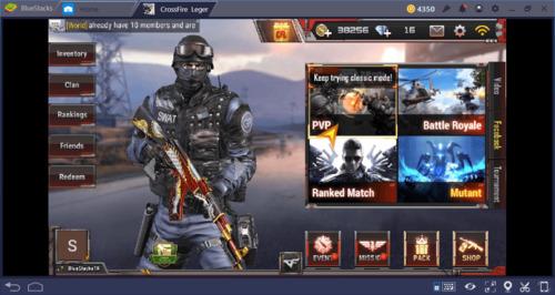Hình ảnh giao diện của trò chơi Crossfire Legends