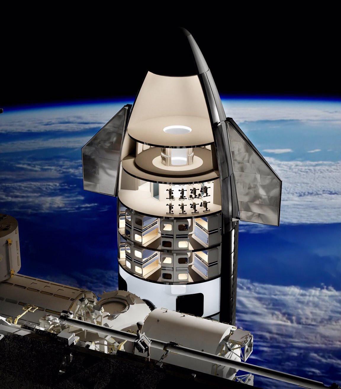 SpaceX Starship interior concept for 64 passengers | human Marshuman Mars