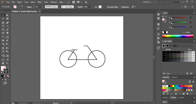 Simple Flat Cycle in Adobe Illustrator