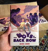 Hey, it's cover of my book, THE BOYS IN THE BACK ROW!