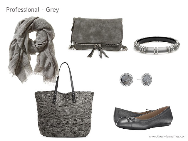 Adding Accessories to a Capsule Wardrobe in 13 color families -  grey