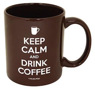 Keep Calm And Carry On Drink Coffee Mug