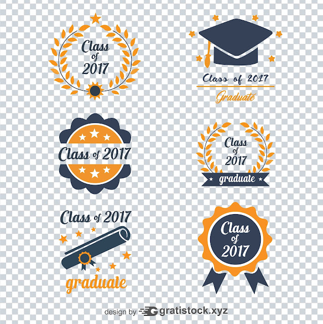 Free Download PSD or PNG Logos - Logo of Graduation - Class Of 2017
