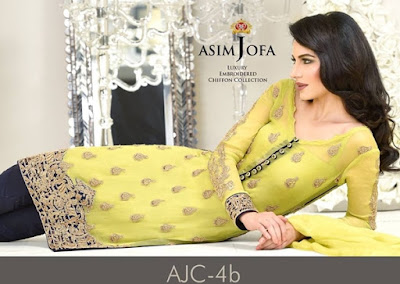 Asim Jofa Embroidered Chiffon 2016-2017