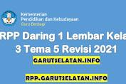 RPP Daring 1 Lembar SD/MI Kelas 3 Tema 5 Revisi 2021