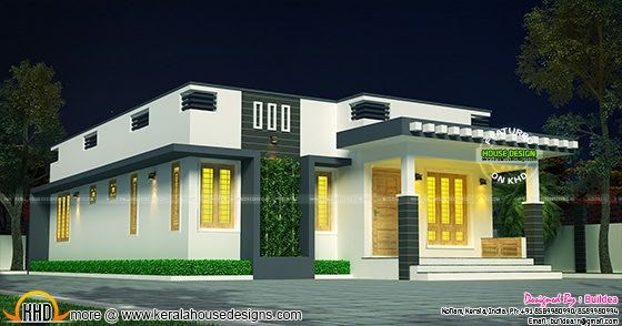 Cute single floor 1007 sq ft house kerala home design for Small budget house plans in kerala
