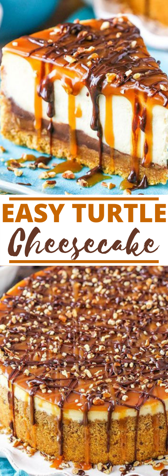 Turtle Cheesecake #desserts #cheesecake #easy #cake #recipes