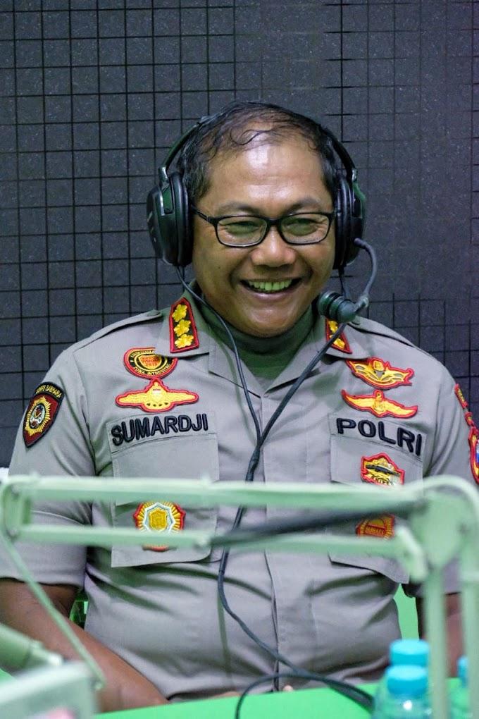 Melalui Siaran Radio, Kapolresta Sidoarjo Sampaikan Ajakan Putus Rantai Penyebaran Covid-19