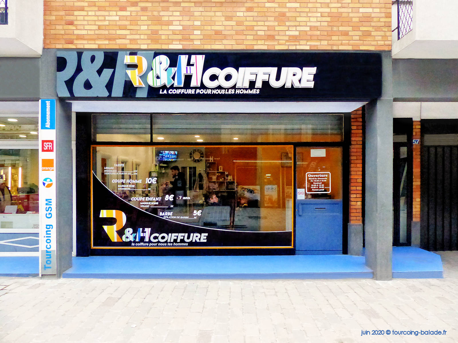R&H Coiffure, Tourcoing rue Saint-Jacques, 2020