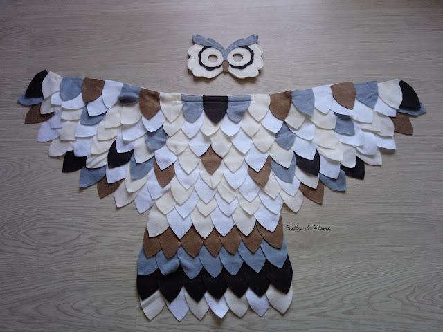 Bulles de Plume - couture facile costume hibou chouette