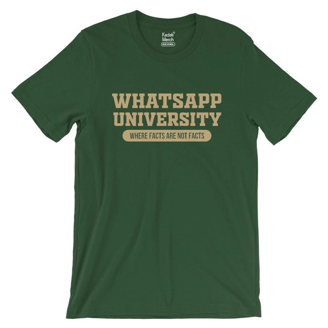 whatsapp university tshirt