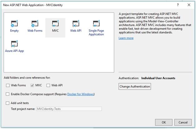 MVC Identity Application