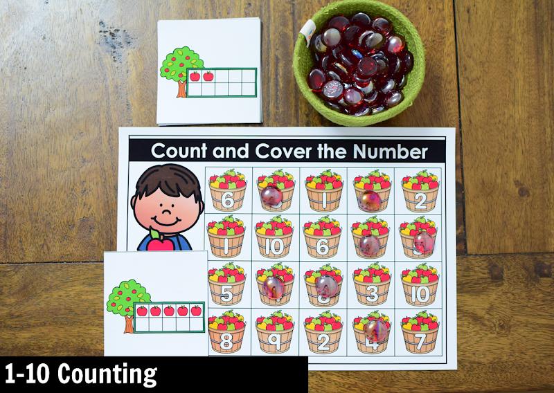 November Kindergarten Math Activity Center: 1-10 Counting