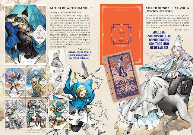 """Milky Way Ediciones anuncia  edición doble del tomo 6 de """"Atelier of Witch Hat"""""""