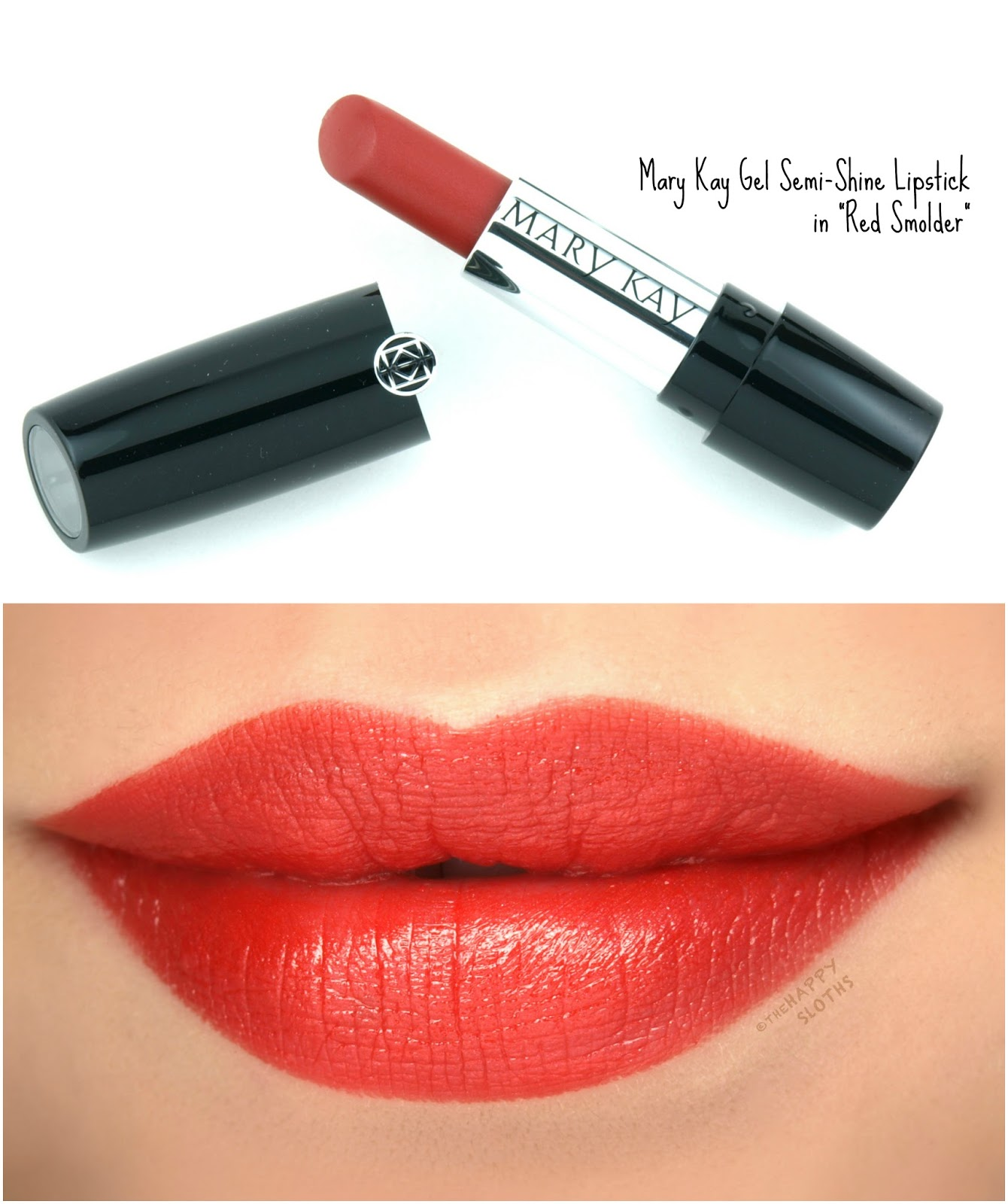 "Mary Kay Gel Semi-Shine Lipstick in ""Red Smolder"": Review and Swatches"