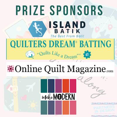 Destination: Quilt Along prize sponsors