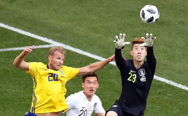 Sweden beats south Korea in World Cup