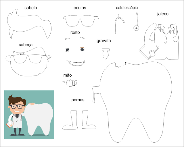 Molde Para Imprimir De Laco Lonita De Cilicone: Eu Amo Artesanato: Boneca Dentista Com Molde