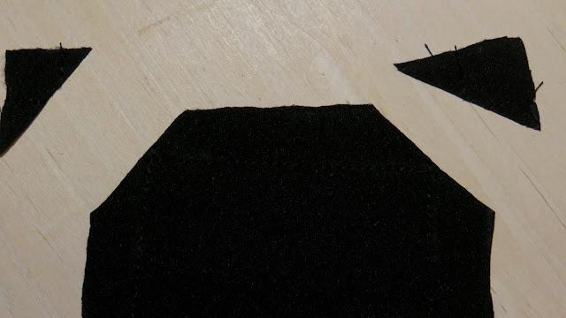 Esquinas de la bandana cortadas
