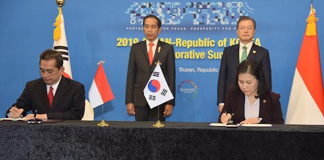 Perkuat Kerja Sama, Indonesia-Korsel Teken Tiga Perjanjian Di Busan
