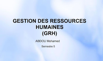 Gestion RH cours S5 ABDOU Mohamed