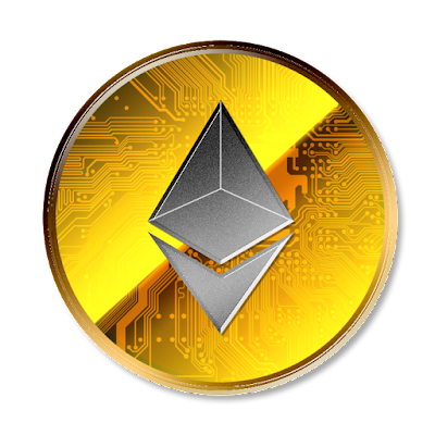 Ethereumのフリー素材(金貨グレーver)