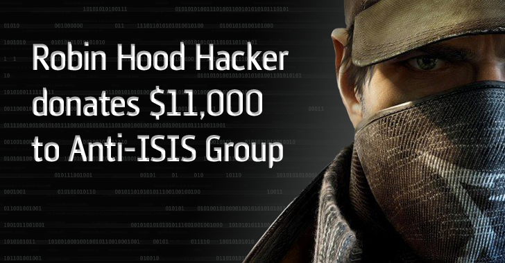 Hacker Steals Money from Bank and Donates $11,000 to Anti-ISIS Group