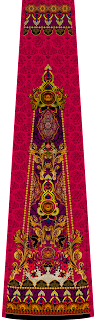 Traditional Print Lehenga Wallpaper Textile Design 2749