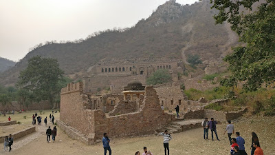 bhangarh fort view from the gate