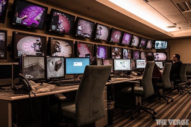 a casino cameras room