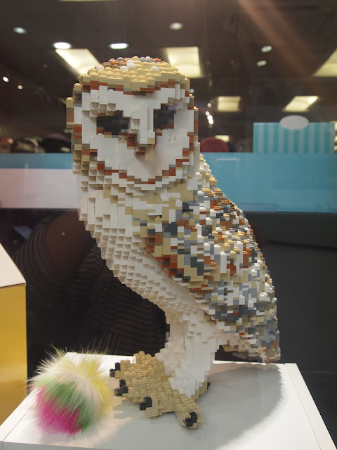 LEGO Owl statue in The Mall, Luton