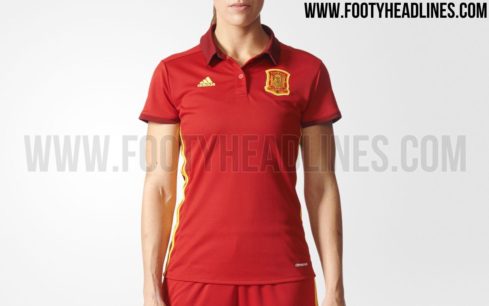 f72551147e242 Camiseta de estilo clásico para España en la Eurocopa femenina