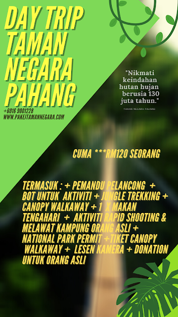Day Trip Taman Negara Kuala Tahan Pahang