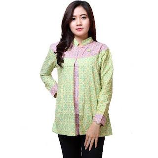 Model Batik Kerja Lengan Panjang